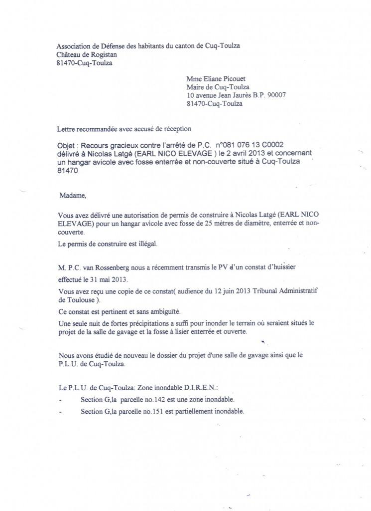 Recours gracieux Association p.1